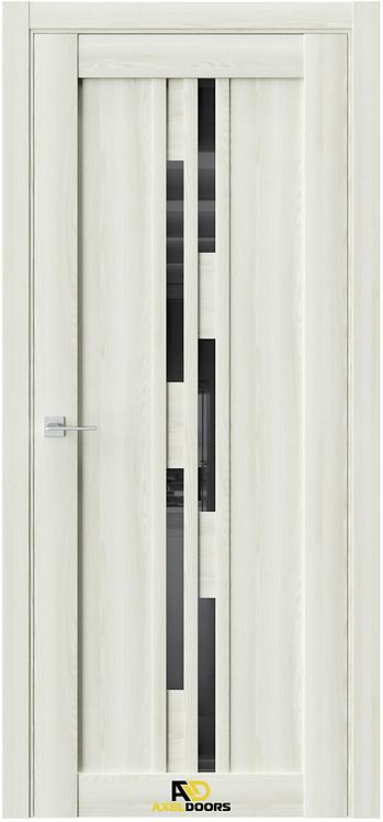 AxelDoors Q 41 межкомнатная дверь с черным стеклом