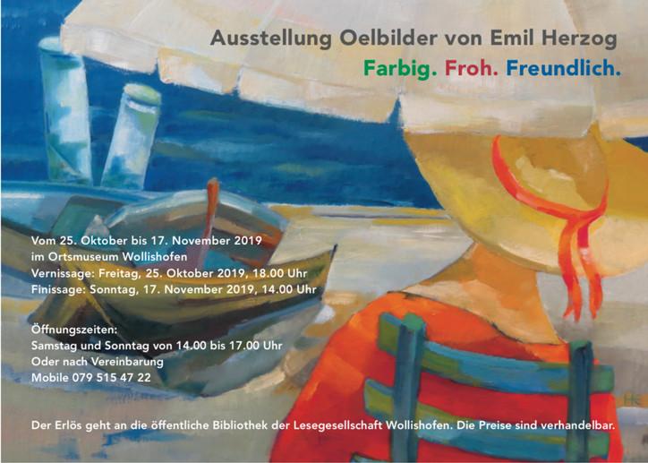 Ausstellung Ölbilder von Emil Herzog