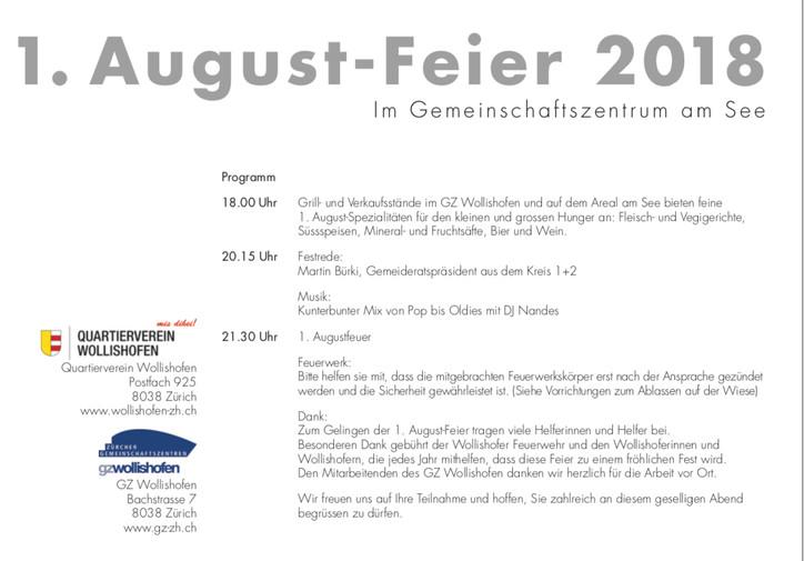 1. August-Feier 2018