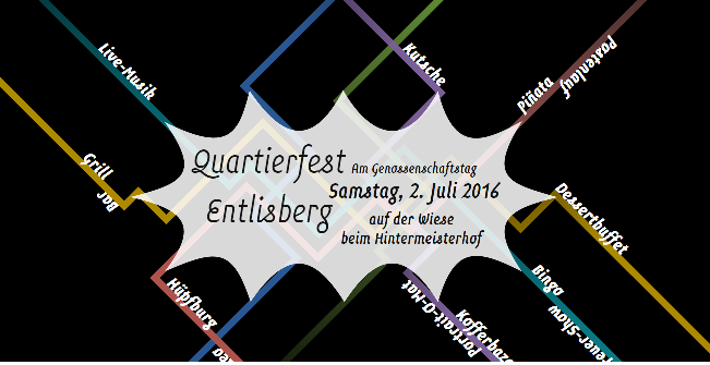 Quartierfest Entlisberg am Genossenschaftstag 02. Juli 2016