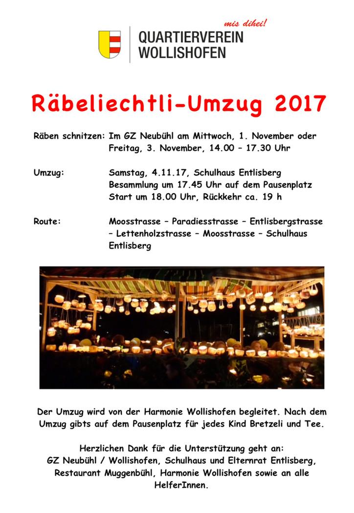 Räbeliechtli-Umzug