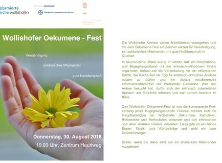 Wollishofen Oekumene-Fest