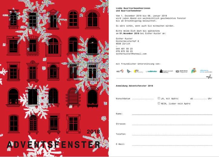 Anmeldung Adventsfenster