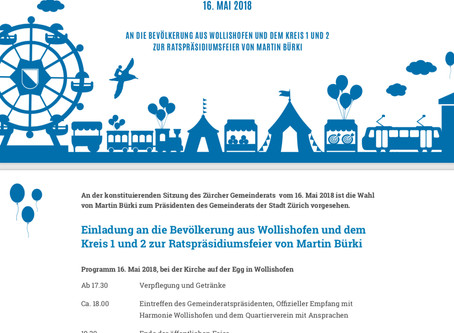 Einladung zur Ratspräsidiumsfeier von Martin Bürki