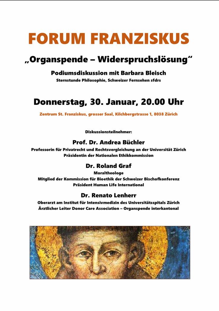 """Forum Franziskus """"Organspende - Widerspruchslösung"""""""