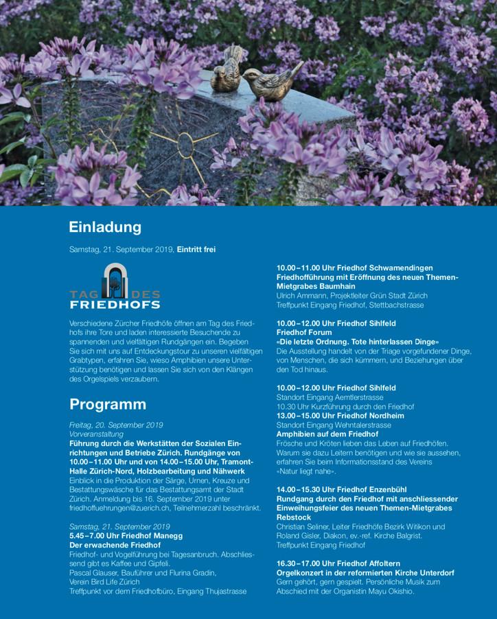 21. September 2019 - Tag des Friedhofes Manegg