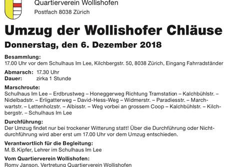 Umzug der Wollishofer Chläuse