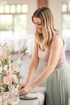 Sara of Queen and Eden floral designer, Hertfodshire