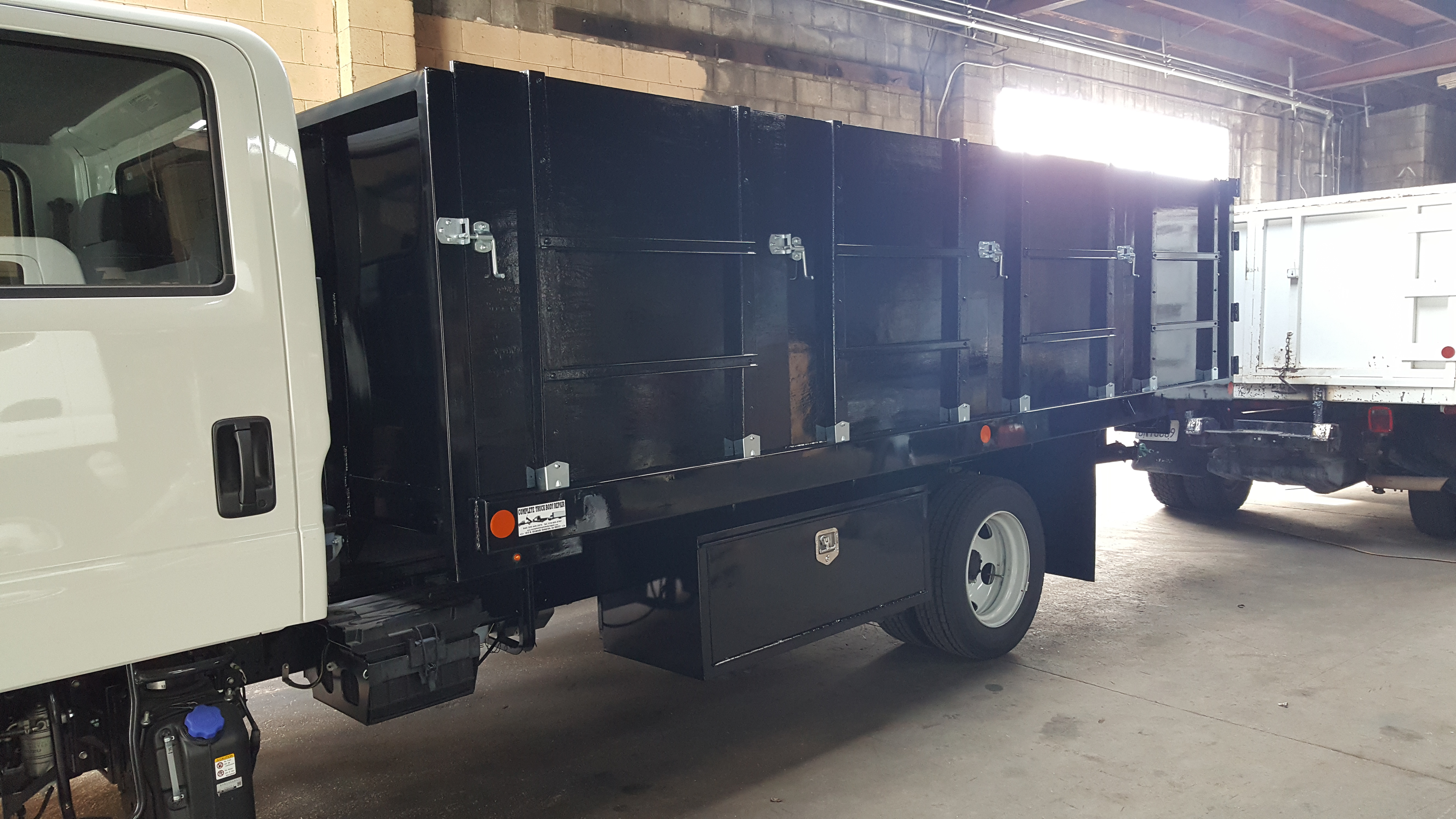 New Dump Truck Body with Tool Boxes