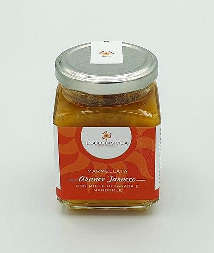 IL SOLE DI SICILIA - Marmellata Arance Tarocco con Miele di Zagara e Mandorle