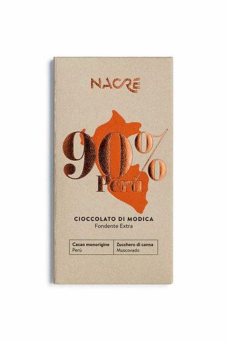 NACRE' - Cioccolato di Modica IGP Fondente Monorigine Perù 90%
