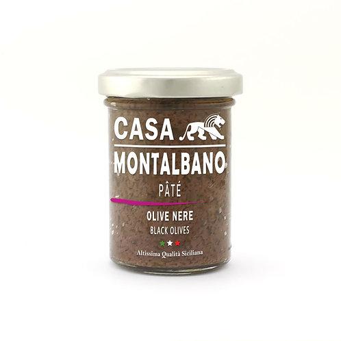 CASA MONTALBANO - Patè di Olive Nere in Olio EVO