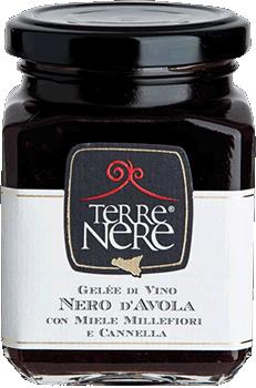 TERRE NERE - Gelée di Vino Nero d'Avola con Miele Millefiori e Cannella
