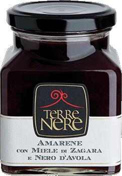 TERRE NERE - Confettura Amarene con Miele di Zagara e Nero d'Avola