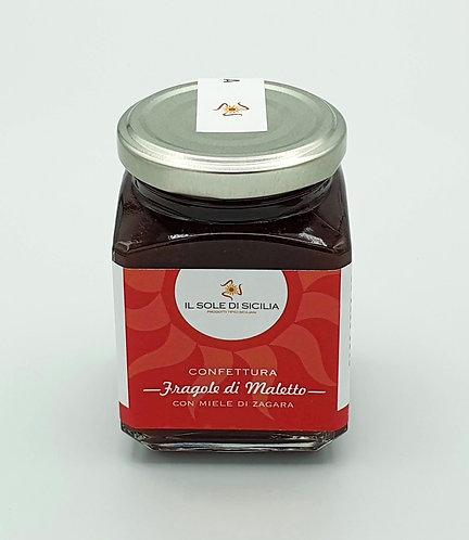 IL SOLE DI SICILIA - Confettura Fragole di Maletto con Miele di Zagara