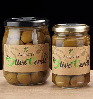 """AGRESTIS - Olive Verdi """"Giarraffa"""" in Salamoia"""
