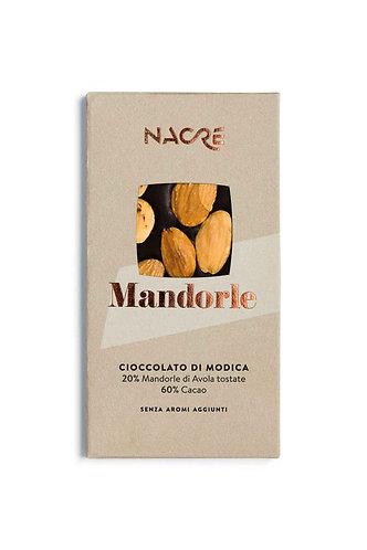NACRE' - Cioccolato di Modica IGP Caratterizzato con Mandorle di Avola Tostate