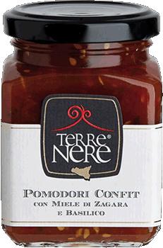 TERRE NERE - Pomodori Confit con Miele di Zagara e Basilico