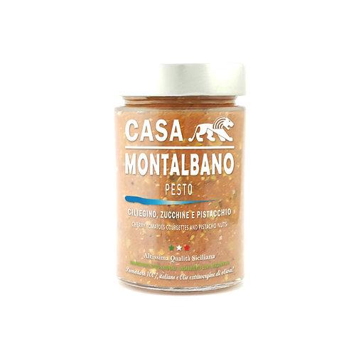 CASA MONTALBANO - Pesto Ciliegino, Zucchine e Pistacchio in Olio EVO