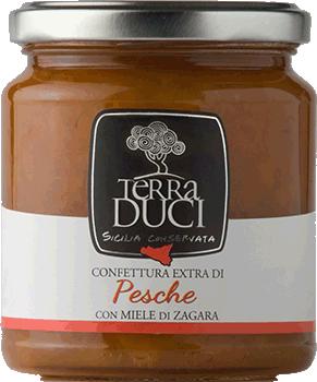 TERRA DUCI - Confettura Extra Pesche con Miele di Zagara