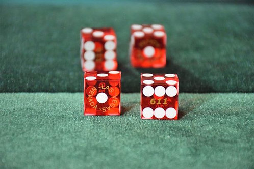"Pair of dice ""loads"" DEAD ACE Red"