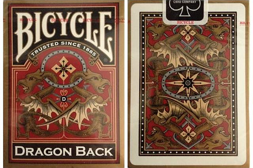 Bicycle Dragon Back Gold