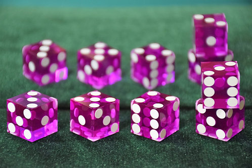 Set of Dice ''Tops'' (5 dice) Purple