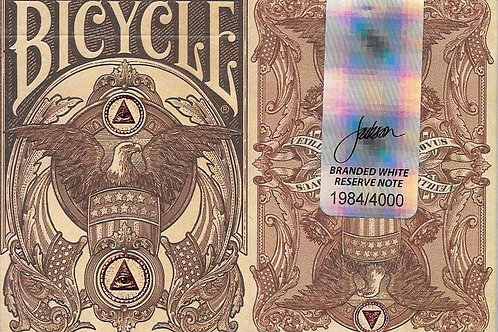 White Reserve Note Bicycle Branded