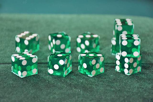 Set of Dice ''Tops'' (5 dice) Green