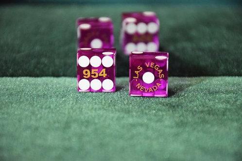 """Pair of dice """"loads"""" DEAD ACE Purple"""