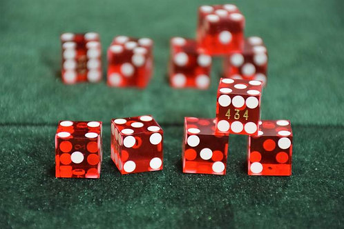 Set of Dice (9/16'') for Whip Cup (5 dice) Red