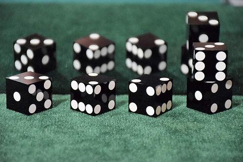 Set of Dice ''Tops'' (5 dice) Black