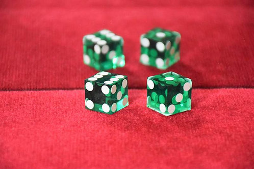 "Pair of dice ""loads"" 1-4-5 Green"