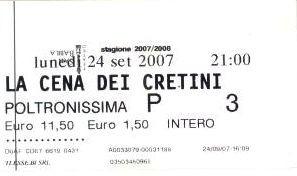 Il biglietto della replica al San Babila di Milano