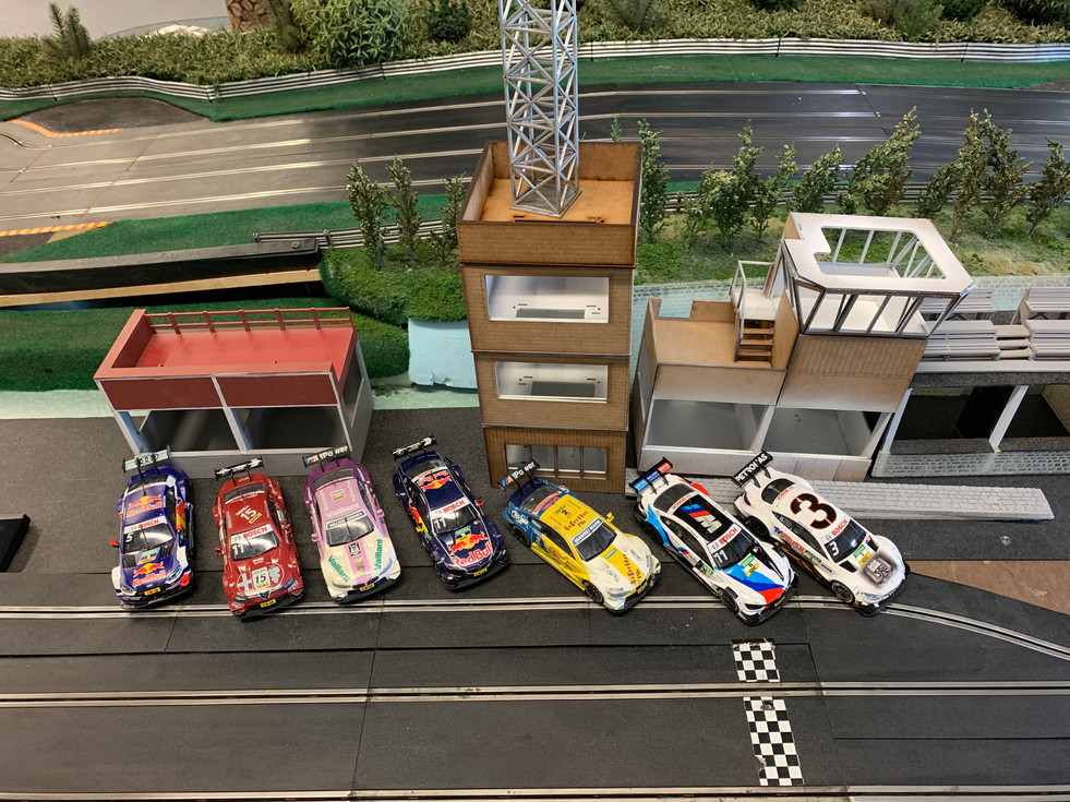 DTM Lined up ready for race