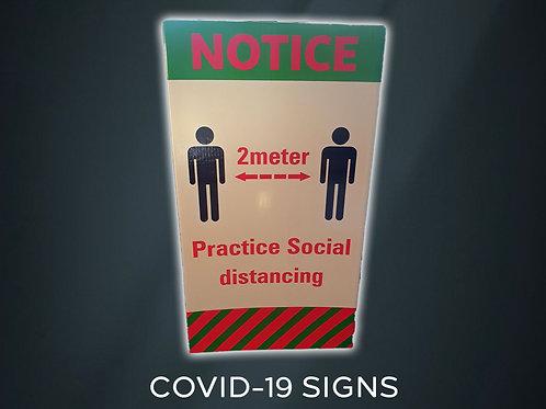 COVID 19 - SIGN 1