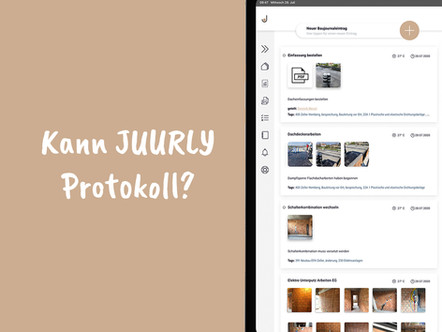 Wie lässt sich mit JUURLY ein Protokoll schreiben?