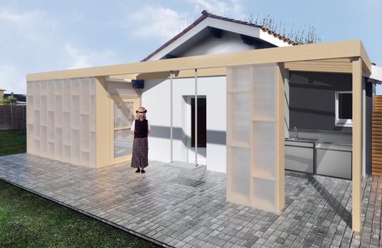 Création d'une serre de 20 m², cuisine d'été et rénovation d'une annexe de 15 m² à Bègles.