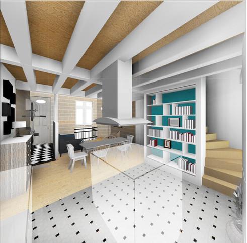 Rénovation et aménagement d'une échoppe avec combles et souplex, à Bordeaux [33]