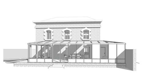 Extension de maison, création d'une chambre PMR et d'une véranda-salon [35].