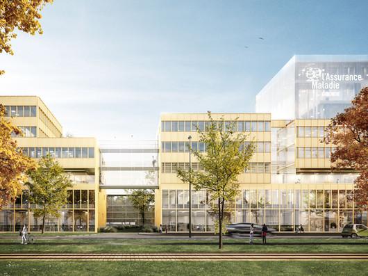 20 000 m² de bureaux pour la création du futur siège social de la Caisse primaire d'assurance maladie de la Gironde.