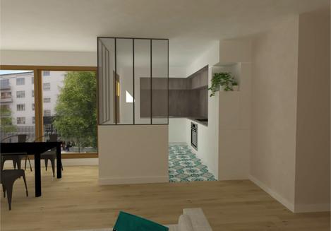 Restructurationde la cuisine et du salon d'un appartementà Boulogne [92].