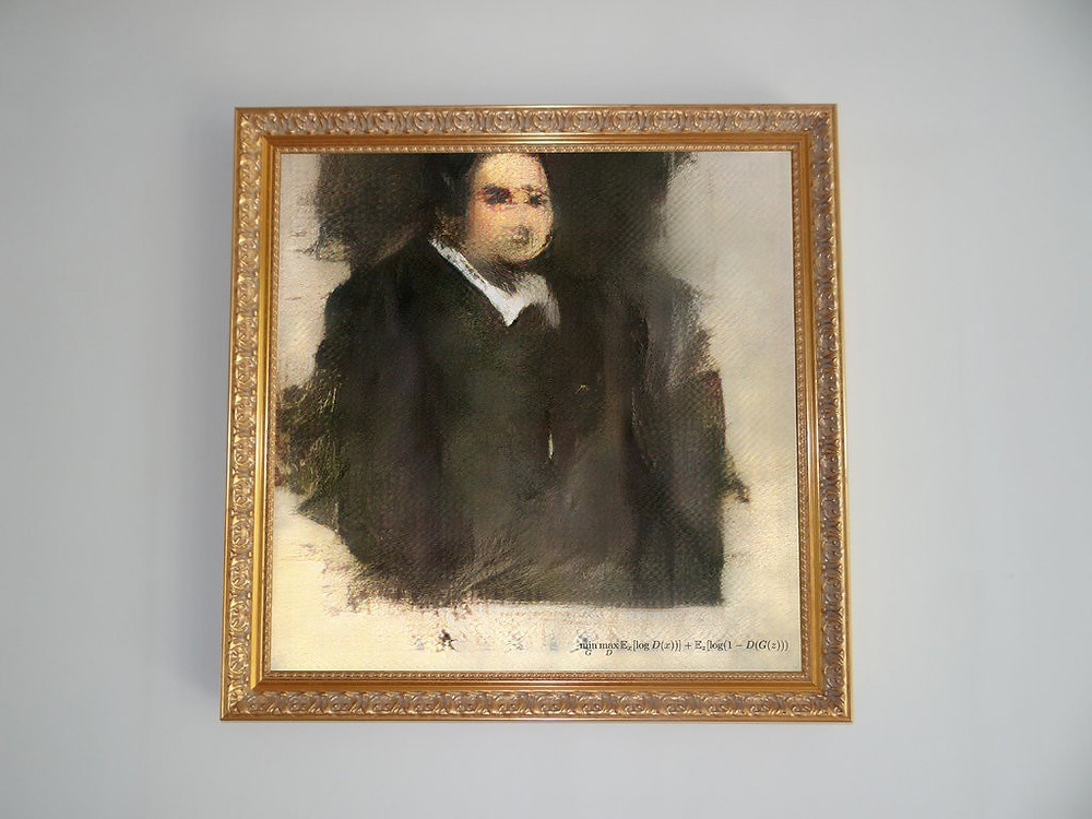 "AI generated art ""Edmond de Belamy, from La Famille de Belamy"""