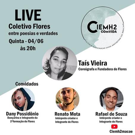"""2ª Live da Campanha: """"CIEMH2 COmVIDA – ações em favor dos artistas de Macaé"""""""