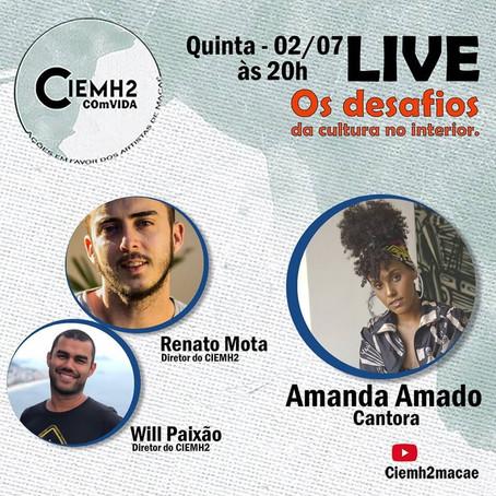 """6ª Live da Campanha: """"CIEMH2 COmVIDA – ações em favor dos artistas de Macaé"""""""