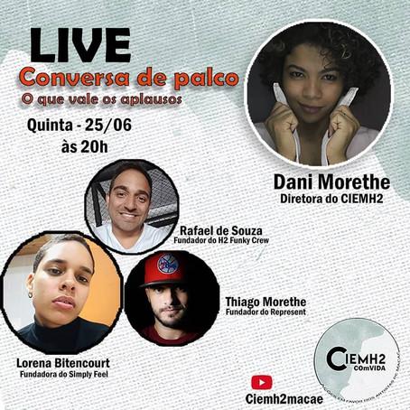 """5ª Live da Campanha: """"CIEMH2 COmVIDA – ações em favor dos artistas de Macaé"""""""