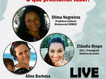 11ª Live CIEMH2 COmVIDA - LEI ALDIR BLANC: O que precisamos saber?