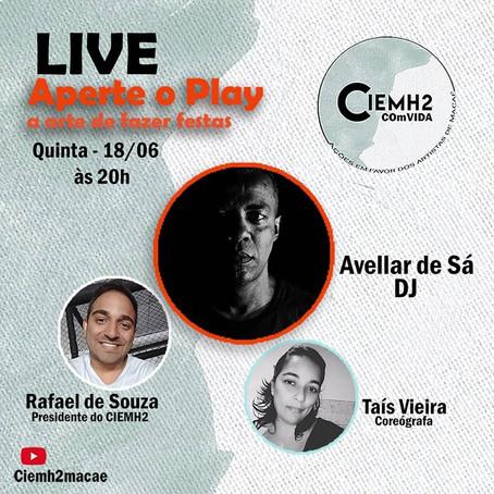 """4ª Live da Campanha: """"CIEMH2 COmVIDA – ações em favor dos artistas de Macaé"""""""