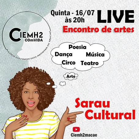 8ª live CIEMH2 COmVIDA - ações em favor dos artistas de Macaé