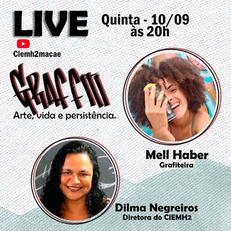 16ª live CIEMH2 COmVIDA: GRAFFITI - Arte, Vida e Resistência.